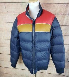 Marine Layer Down Fill Varsity Puffer Jacket